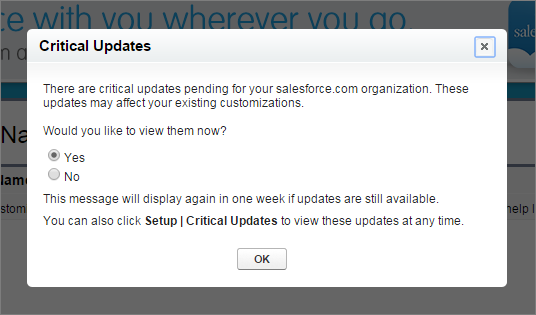Prepare for Critical Update: Clickjack Protection for Legacy Browsers for Visualforce Pages Without Page Header